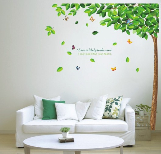 2016-Green-tree-Butterfly-Photo-Wall-Sticker-Wall-Decal-Poster-Photo-Picture-Frame-Base-Art-DIY