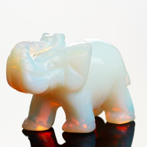 Opal-Opalite-Tiger-eye-Elephant-Natural-stone-carved-1-5inch-Figurine-Chakra-Bead-Healing-Crystal-Reiki