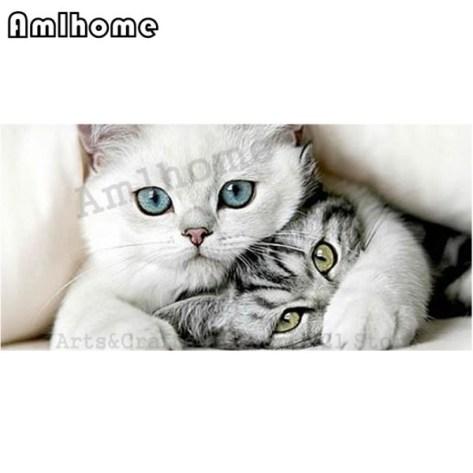 5D-DIY-Diamond-Painting-Cats-Cross-Stitch-Diamond-Embroidery-Mosaic-Diamonds-Arts-Crafts-Sewing-Home-Decoration